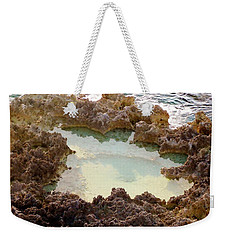 Weekender Tote Bag featuring the photograph Ironshore Tidewater Pool by Amar Sheow