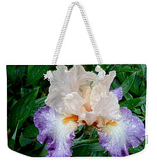 Irresistible Iris Weekender Tote Bag by Roxy Hurtubise