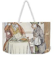 Weekender Tote Bag featuring the painting Irving & Knickerbocker by Granger