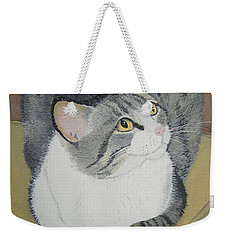 Weekender Tote Bag featuring the painting Is Dinner Ready by Norm Starks