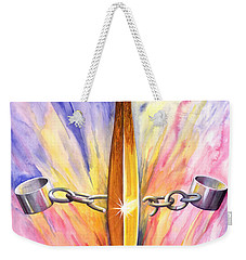 Isaiah Sixty One Verse One Weekender Tote Bag by Nancy Cupp