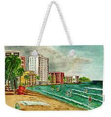 Isla Verde Beach San Juan Puerto Rico Weekender Tote Bag by Frank Hunter