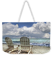 Island Attitude Weekender Tote Bag by Debra and Dave Vanderlaan