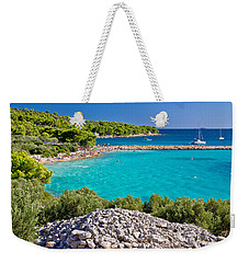 Island Murter Turquoise Lagoon Beach Weekender Tote Bag by Brch Photography