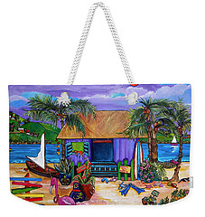 Weekender Tote Bag featuring the painting Island Time by Patti Schermerhorn