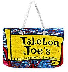 Isleton  Joe's Logo Weekender Tote Bag
