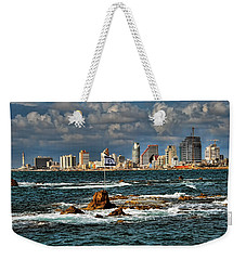 Weekender Tote Bag featuring the photograph Israel Full Power by Ron Shoshani