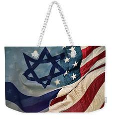 Israeli American Flags Weekender Tote Bag