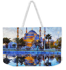 Istanbul Blue Mosque  Weekender Tote Bag by Lilia D