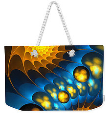 Weekender Tote Bag featuring the digital art It Is Time by Anastasiya Malakhova