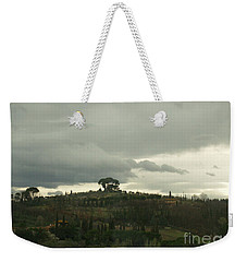 Weekender Tote Bag featuring the photograph Italian Hillside by Robin Maria Pedrero