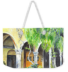 Weekender Tote Bag featuring the painting The Italian Villa by Carol Wisniewski