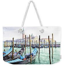 Italy Venice Gondolas Parked Weekender Tote Bag