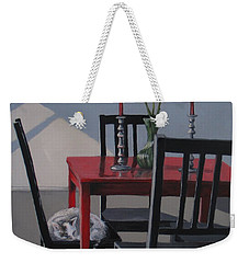 Weekender Tote Bag featuring the painting Its A New Day by Karen Ilari
