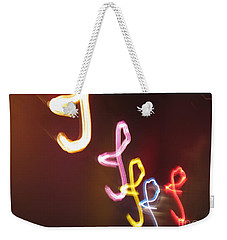 Weekender Tote Bag featuring the photograph It's I... I... And More Of I. Dancing Lights Series by Ausra Huntington nee Paulauskaite