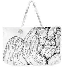 Weekender Tote Bag featuring the digital art It's In The Grain by Carol Jacobs