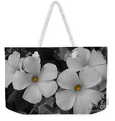 Its Not All Black And White Weekender Tote Bag by Janice Westerberg