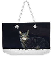 It's Snowing -- Looking Out The Barn Window Weekender Tote Bag