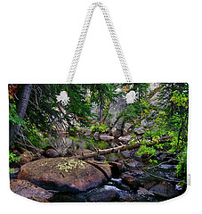 Weekender Tote Bag featuring the photograph Ivanhoe Serenity by Jeremy Rhoades
