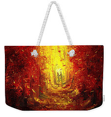 Weekender Tote Bag featuring the painting Ive Fallen For You by Shana Rowe Jackson