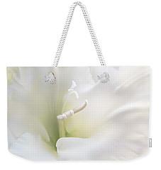 Ivory Gladiola Flower Weekender Tote Bag