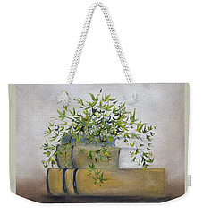 Weekender Tote Bag featuring the painting Ivy League by Judith Rhue