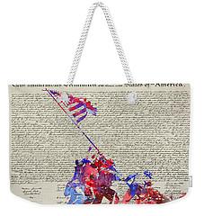 Iwo Jima Declaration Of Freedom Weekender Tote Bag
