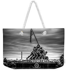 Iwo Jima Monument Black And White Weekender Tote Bag