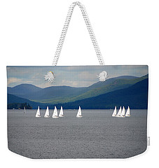 Weekender Tote Bag featuring the photograph J Boats Lake George N Y by John Schneider