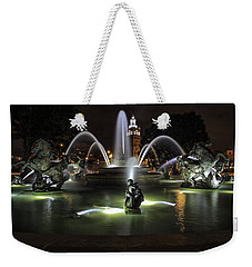J C Nichols Fountain Weekender Tote Bag
