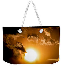 Weekender Tote Bag featuring the photograph Jabiru Sunset Cloud by Paul Job