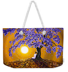 Jacaranda Sunset Meditation Weekender Tote Bag