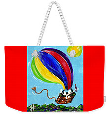 Weekender Tote Bag featuring the painting Jack And Charlie Fly Away by Jackie Carpenter