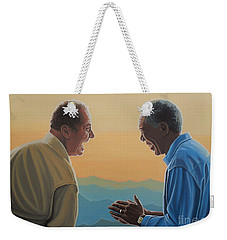 Jack Nicholson And Morgan Freeman Weekender Tote Bag