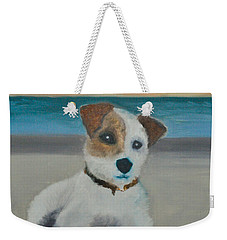 Jack On The Beach Weekender Tote Bag by Kristen R Kennedy