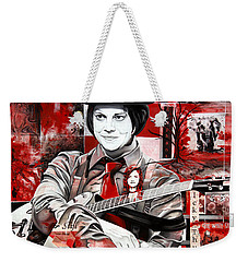 Weekender Tote Bag featuring the painting Jack White by Joshua Morton