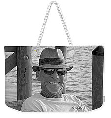 Jackie Sitting On The Dock Of The Bay Weekender Tote Bag