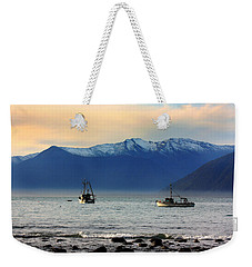 Weekender Tote Bag featuring the photograph Jackson Bay South Westland New Zealand by Amanda Stadther