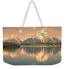 Jackson Lake Sunrise - Grand Teton Weekender Tote Bag