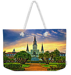 Jackson Square Evening - Paint Weekender Tote Bag