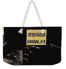Weekender Tote Bag featuring the photograph Jacob's Assay Office Barrio Tucson Az by David Lee Guss