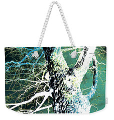 Weekender Tote Bag featuring the photograph Jade Forest by Shawna Rowe