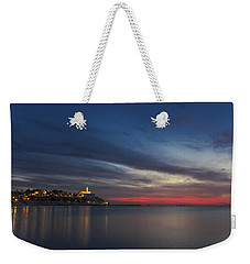 Weekender Tote Bag featuring the photograph Jaffa On Ice by Ron Shoshani