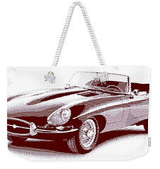 Jaguar E-type - Cross Hatching Weekender Tote Bag