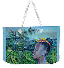 Weekender Tote Bag featuring the painting Jamaica. Part Two by Anna  Duyunova
