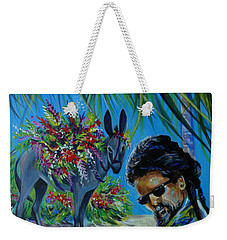 Weekender Tote Bag featuring the painting Jamaica.part One by Anna  Duyunova