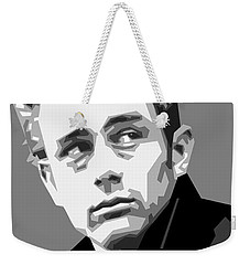 James Dean In Black And White Weekender Tote Bag by Douglas Simonson
