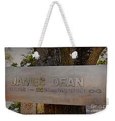 James Dean James Dean Weekender Tote Bag by Janice Rae Pariza