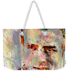 James Dean Weekender Tote Bag by Mark Ashkenazi