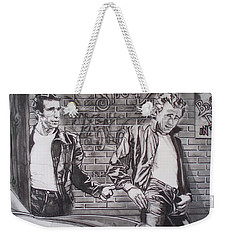 James Dean Meets The Fonz Weekender Tote Bag